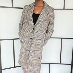 Topshop Check Coat in Size 8